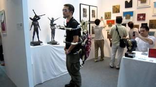 Walk with Spider #2☆- Takeshi Spider street show, タケシ・スパイダー,  Art Fair Tokyo 7.31, 2011 011