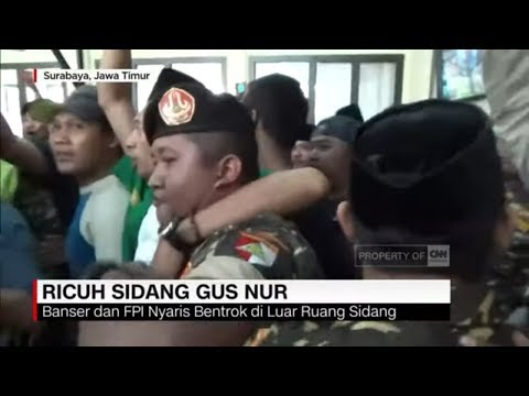 Banser & FPI Nyaris Bentrok di Sidang Gus Nur