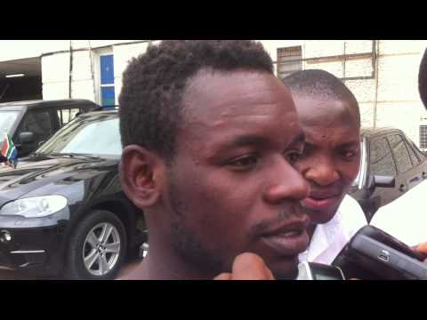 Emmanuel Clottey interacts with media upon Berekum Chelsea's return from DR Congo