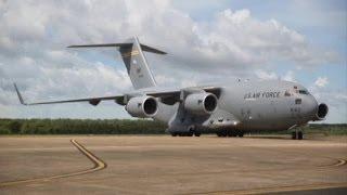 Marine Rotational Force Darwin – C-17 Unloading