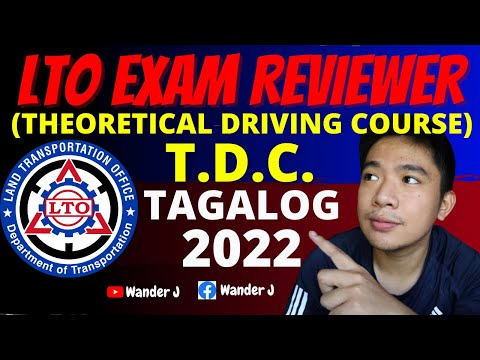 LTO T.D.C. EXAM REVIEWER 2021 | STUDENT PERMIT EXAM REVIEWER 2021 | TAGALOG