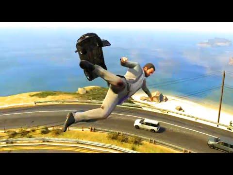 GTA V Unbelievable Crashes/Falls - Episode...