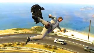 Repeat youtube video GTA V Unbelievable Crashes/Falls - Episode 07