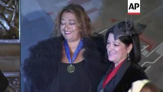 Architect Dame Zaha Hadid honoured in London