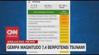 Ini Daftar Daerah yang Berpotensi Terkena Tsunami Imbas Gempa Banten