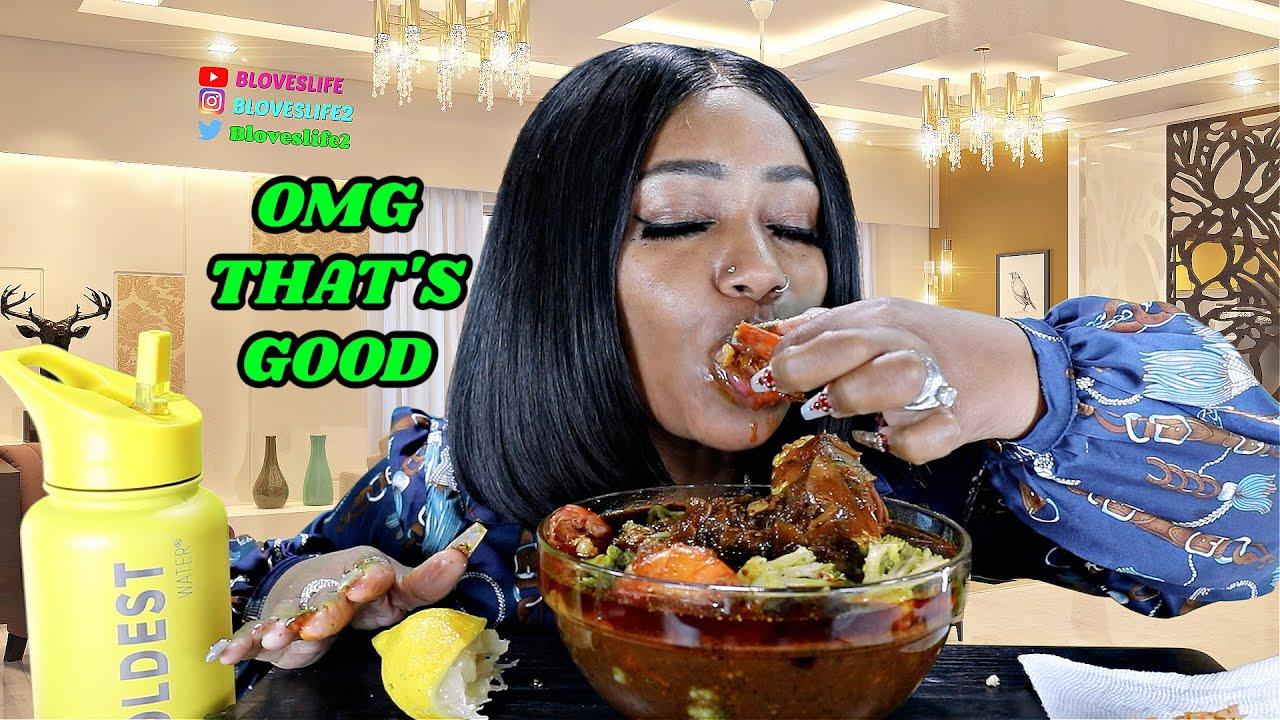 Jumbo Shrimp, Sausage and Broccoli  Seafood Boil