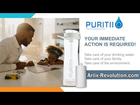 Puritii Portable Water Bottle Filtration System Presentation
