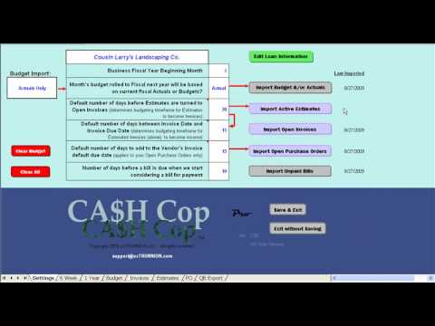 Cash Flow Projection Tool for QuickBooks - YouTube