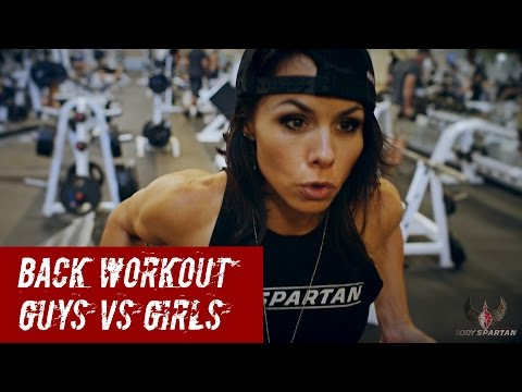 Back workout! Guys VS Girls