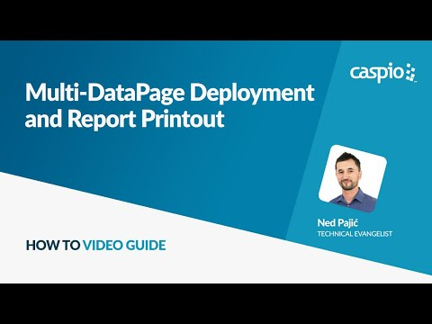 Multi-DataPage Deployment and Report Printout