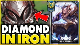 FIRST TIME PLAYING IN *IRON 4* (ELO-HELL ACTUALLY EXISTS) ONE-TRICK VS IRON 4 - League of Legends