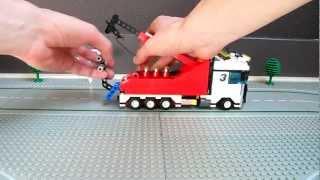 Lego heavy duty wrecker, custom tow truck with crane