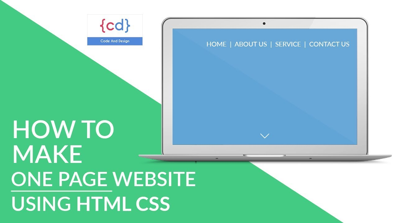 One page website in HTML CSS || single page website tutorial - YouTube