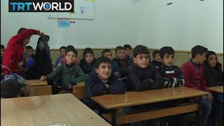 The War In Syria: Syrian orphans in Azaz find shelter from war