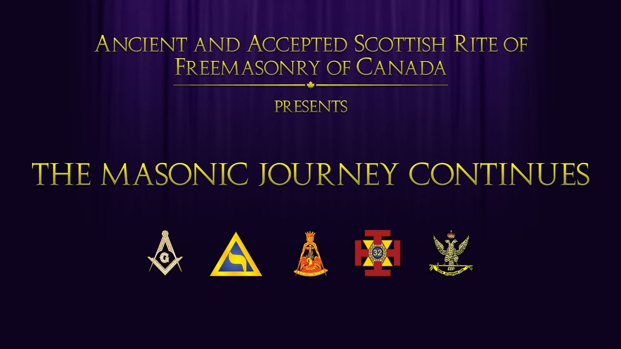 Scottish Rite The Masonic Journey Continues Youtube