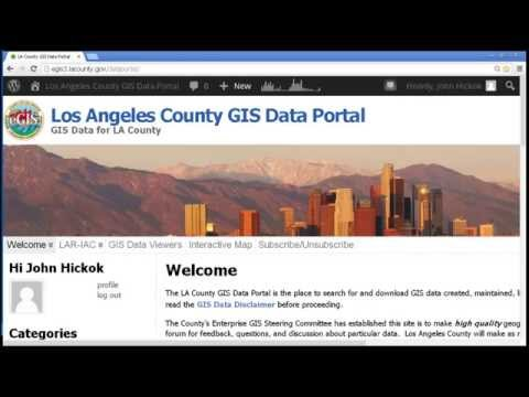 Los Angeles County GIS Data Portal