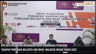 Rapat Koordinasi Persiapan Tahapan Lanjutan Pilkada Medan 2020 di Grand Inna, Rabu 17 Juni 2020