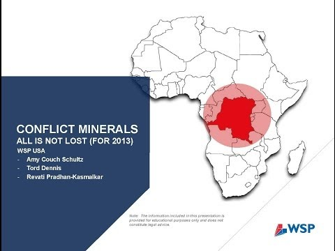 Conflict Minerals: All is Not Lost for 2013 Reporting