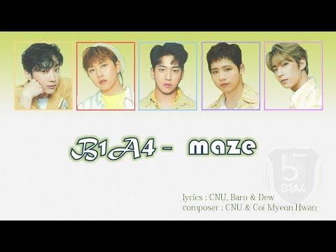 B1A4 - Maze    [lyirc/romaji/eng]   [가사/번역/듣기]