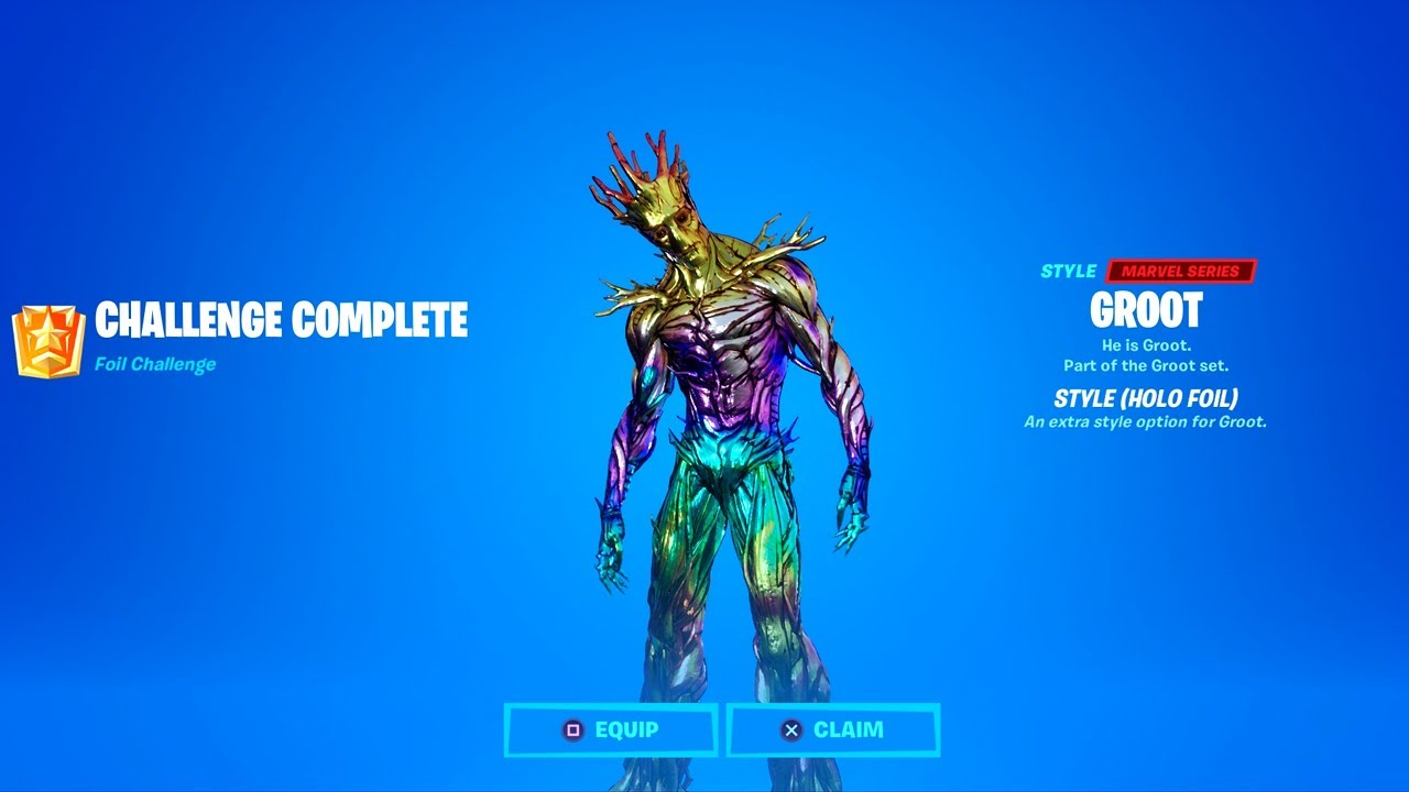 Fortnite How to Unlock All Groot Styles (Silver, Gold, Holo Foil) & Awakening Challenges
