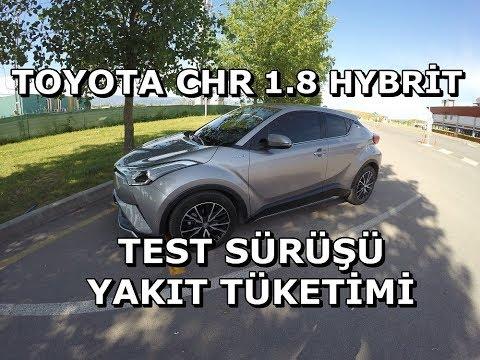 Toyota CHR 1.8 hybrit test sürüşü ve yakıt tüketimi