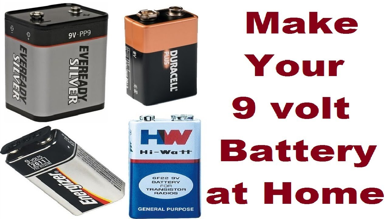 9 Volt Batterie How To Make 9 Volt Battery Rechargeable 9 Volt Battery Life Hack At Home Easy Way 2018