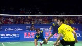 [2011 Double Star BWF Sudirman Cup MD SF] Yun Cai, Haifeng Fu vs Jae Sung Jung, Yong Dae Lee