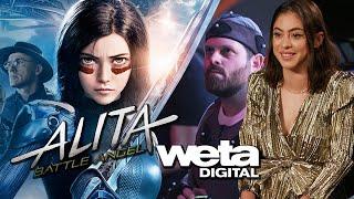 Rosa Salazar, Christoph Waltz Interviews & Weta Digital for Alita Battle Angel