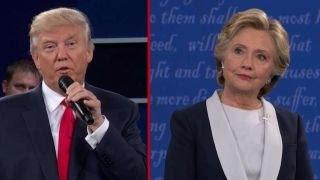 Clinton, Trump exchange compliments to end debate