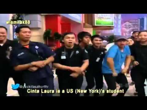 Caesar Keep Smile Dance ft Cinta Laura go international   Goyang Joget Cesar Style Yuk Kita Sahur