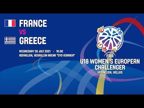 France - Greece | 28/07/2021 - FIBA U18 WOMEN'S European Challenger 2021