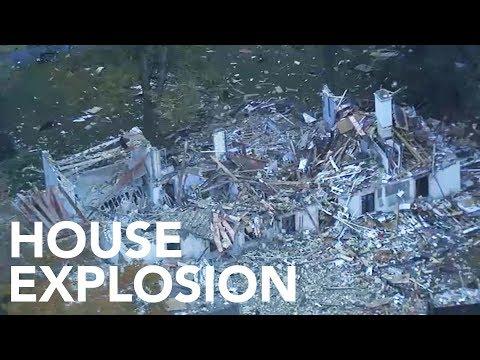 Chopper 6 over scene of Gladwyne explosion