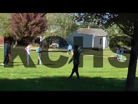 Kids & Yorkville Middle School Cross Country Team Volunteers Interacting
