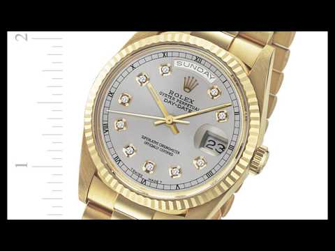Rolex Day-Date President in 18k yellow gold, silver diamond dial - Buy, Sell, or Consign