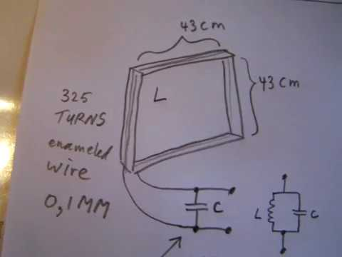 Making a VLF antenna for the 2 KHz-10 KHz band and tune it in/test (old  video 2008)