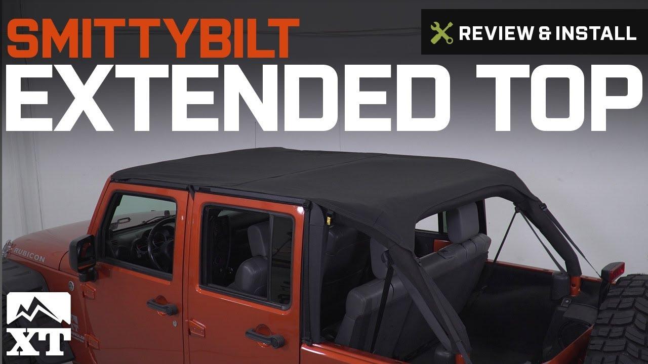 Jeep Wrangler Smittybilt Extended Top 2010 2018 Jk 4 Door Review Install Youtube