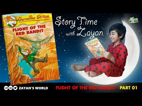 Geronimo Stilton Book Series | Flight Of The Red Bandit | English Stories For Kids | Zayan's World