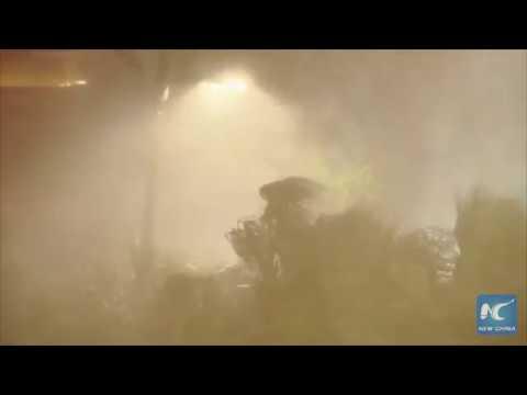 Heavy rain as Hurricane Nate makes landfall at the U.S. Gulf Coast