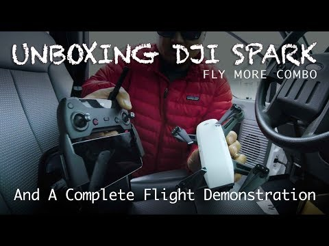 DJI Spark Unboxing & Flight Demo (Fly More Combo)