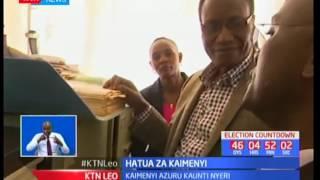 Waziri Jacob Kaimenyi afanya ziara ya ghafla kwenye afisi ya ardhi Nyeri