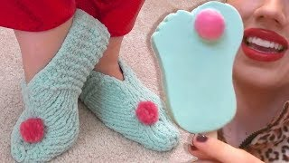 KNIT COZY SLIPPERS Free Knitting Pattern