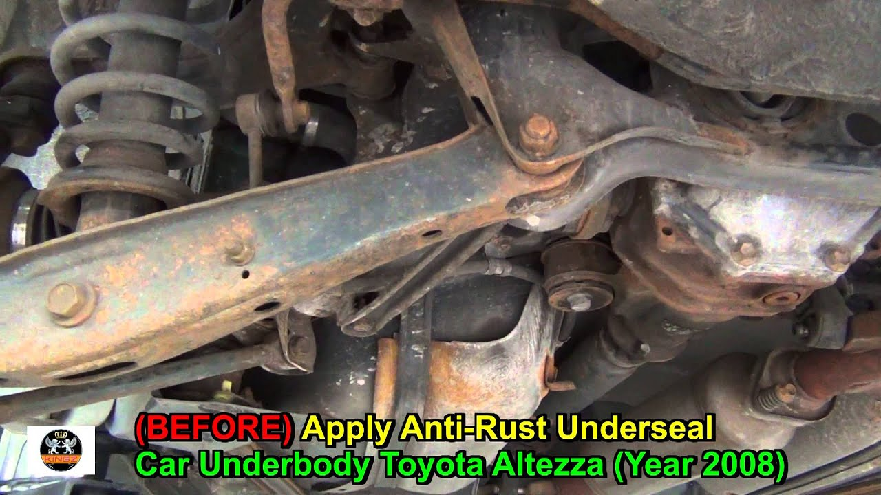 Toyota Corolla Battery >> Anti-Rust Underseal Toyota Altezza Car Underbody - YouTube