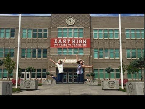 WE TOURED THE HIGH SCHOOL MUSICAL SET!! | EAST HIGH