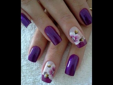 Bonitas u as decoradas con flores youtube - Unas decoradas con esmalte ...