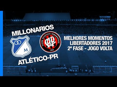 Melhores Momentos - Millonarios 1 x 0 Atlético-PR - Libertadores - 08/02/2017