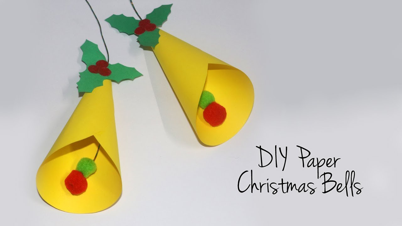 EASY Christmas Bells | DIY Paper Bells for Christmas Decorations - YouTube