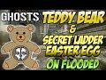 """Cod Ghosts - """"TEDDY BEAR & INVISIBLE LADDER LOCATION"""" on Flooded (Call of Duty Easter Eggs) 