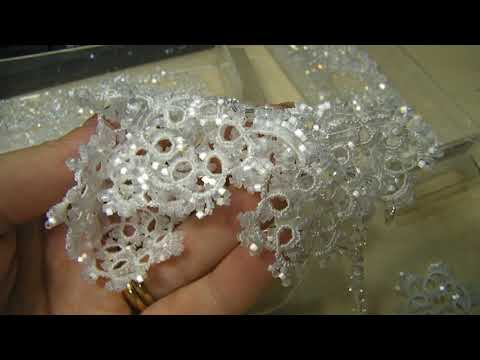 Lorina necklace, needle tatting for a sparkling bride