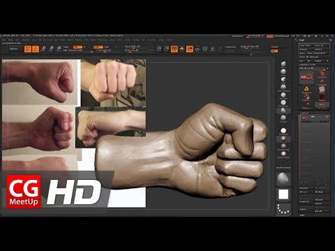 "CGI Zbrush Sculpting Tutorial HD: ""A Fist in Zbrush Sculpting"" by Isaac Oster - Part 1"