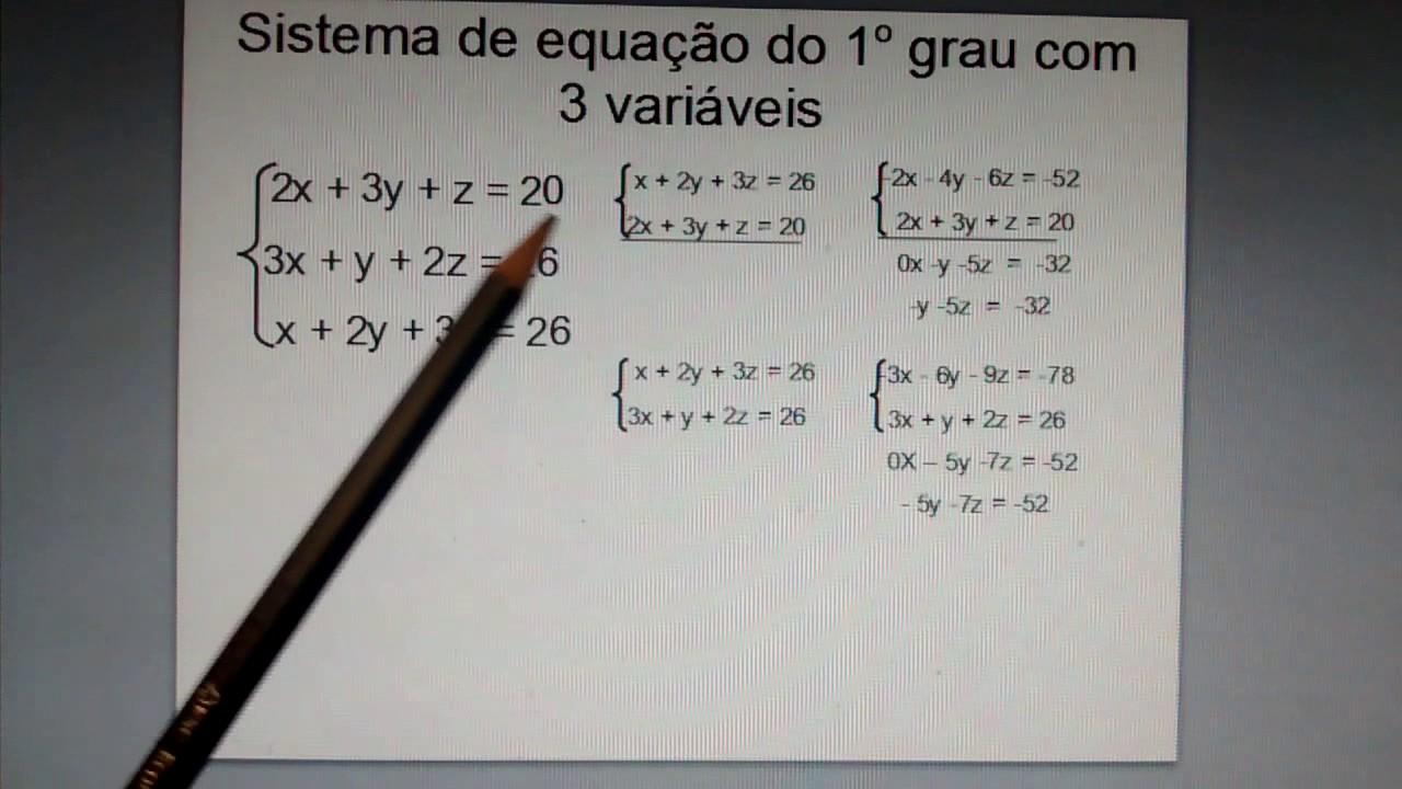 # 2 Sistema de equação do 1º grau com duas incógnitas ...